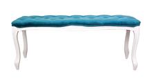 Оттоманка Kina narrow blue + white