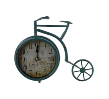 Часы настольные металлические велосипед 28х6х22 3B060зел