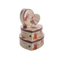 Набор коробок сердце Бэль 3 шт W8839
