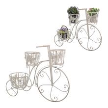 Цветочная подставка-велосипед Белый ажур