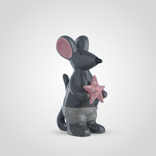 Мышка Керамическая с Розовой Звездой 26 см.