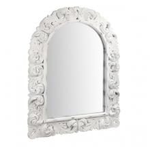 Зеркало в белой резной раме AN08-0004