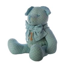 Мишка в одежде голубой 40 см. J1104001G