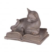 Статуэтка кошка на книге 14,5х9,5х25,5 QJ99-0025