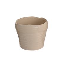 Ваза керамическая бежевая роза (17см) L310