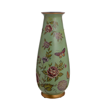 Ваза-сосуд керамическая Цветы H18579-0186-15
