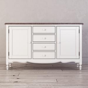 Буфет двухстворчатый с 4-я ящиками Leblanc, белый