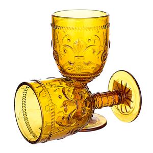 Бокал для вина яркий желтый Лилия