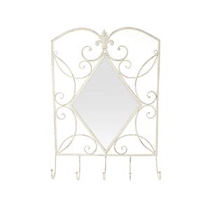 Зеркало вешалка Белый ажур PL08-7041
