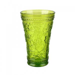 Стакан салатовый из цветное стекла окрашенного в массе (набор 6шт)