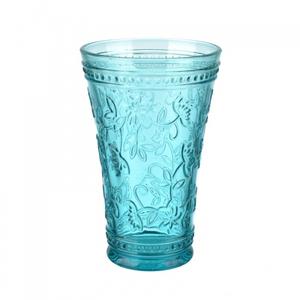 Стакан голубой из стекла окрашенного в массе (набор 6шт)