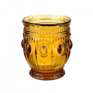 Стакан желтый из стекла окрашенного в массе