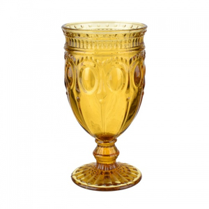 Желтый стеклянный бокал (набор 6шт)