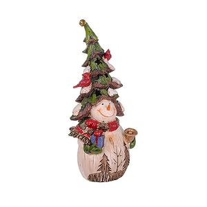 Снеговик с елкой маленький BC16157