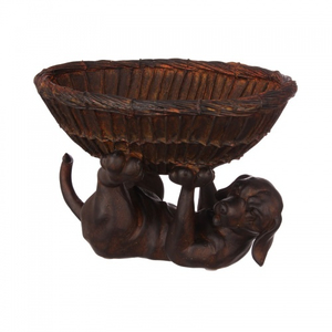 Статуэтка собака с корзинкой