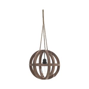 Подвесная лампа коричневая