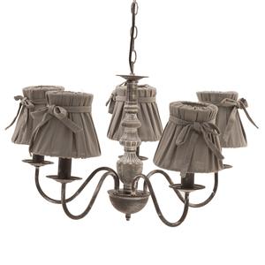 Лампа потолочная коричневая на 5 ламп