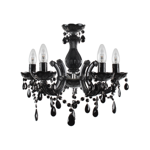 Люстра черная 5 ламп 3-10-917-0014