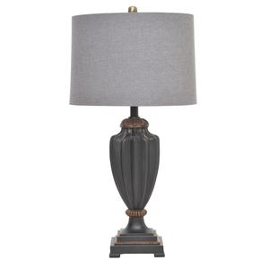 Лампа настольная черный полистоун