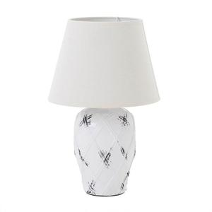 Лампа настольная белая керамическая