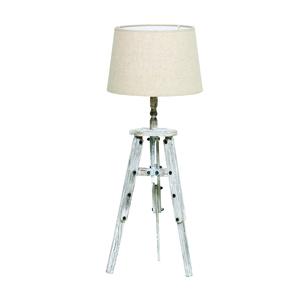 Лампа настольная на ножках- белая