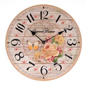 Часы настенные Бабочки и цветы