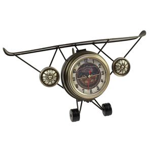 Часы настольные в форме бронзового самолета