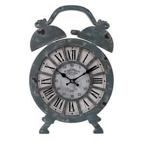 Настенные часы серые в виде будильника 28х42 см