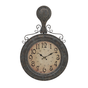 Часы настенные коричневые - кварцевый механизм 3-20-098-0259