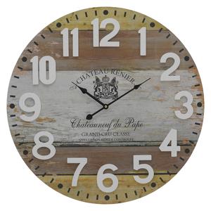 Часы настенные коричневые круглые - кварцевый механизм 3-20-192-0050
