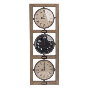Часы настенные в деревянной раме - кварцевый механизм 3-20-447-0002
