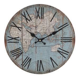 Часы настенные круглые голубые 34см