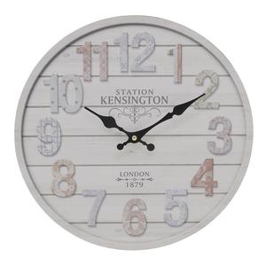Часы настенные бежевые 34см - кварцевый механизм 3-20-484-0403
