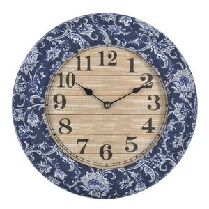 Настенные часы синие круглые - кварцевый механизм 3-20-534-0001