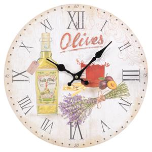 Часы настенные круглые 34см Olives