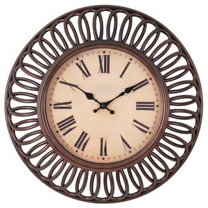 Часы настенные коричневые круглые 41см - кварцевый механизм 3-20-828-0041