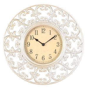 Часы настенные серебристый пластик 28см - кварцевый механизм 3-20-828-0044