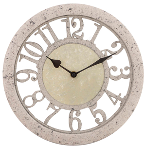 Часы настенные бежевые круглые 29см