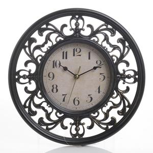 Часы настенные черные круглые 31см - кварцевый механизм 3-20-828-0084
