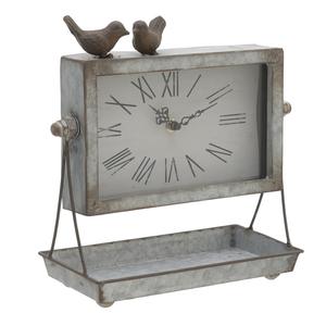 Часы настольные с птичками 26х27х13 см