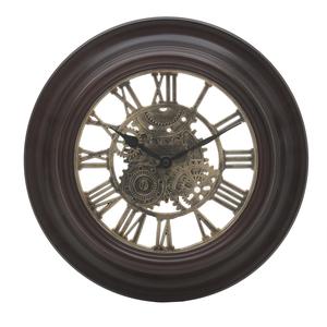 Часы настенные коричневые круглые 31см