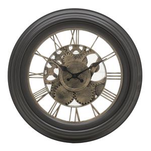 Часы коричневые круглые 35см