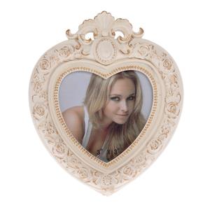 Фоторамка розовая в форме сердца 3-30-117-0128