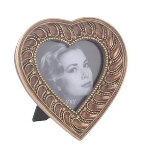 Фоторамка в форме сердца золотая 3-30-117-0223
