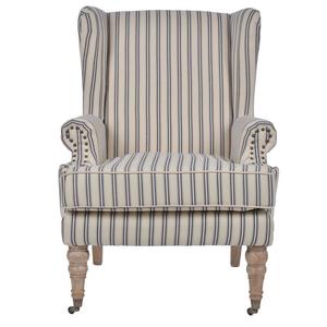 Кресло в полоску на колесиках 8-50-176-0006