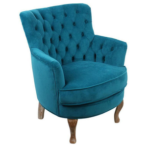 Кресло голубой вельвет