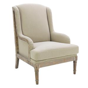 Кресло бежевое из хлопка 8-50-177-0013