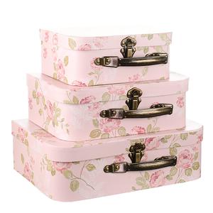 Набор коробок Розовый чемоданчик