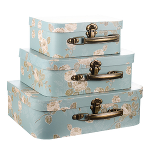 Набор коробок Голубой чемоданчик