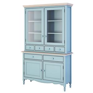 Буфет с ящиками и дверцами Leblanc, голубой